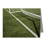 Goal line on a football pitc Note Cards (Pk of 20)