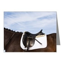 side view of saddled horse Note Cards (Pk of 10)