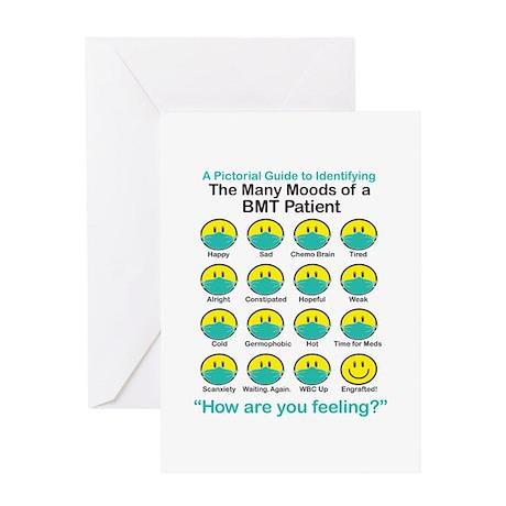 Many Moods Greeting Card