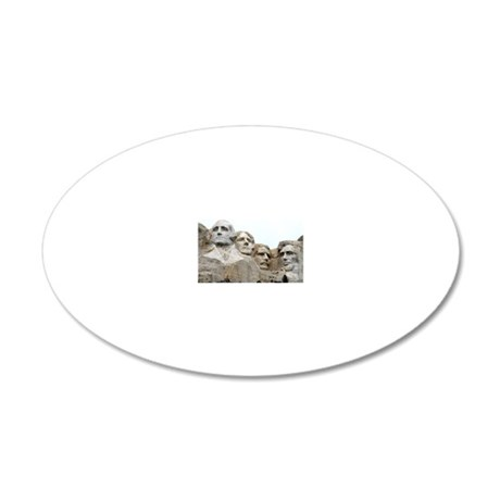 Mount Rushmore, South Dakota 20x12 Oval Wall Decal
