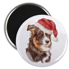 Christmas Border Collie Magnet
