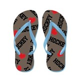 Hockey Sports Lover Flip Flops
