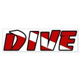 Just Dive White Bumper Bumper Sticker