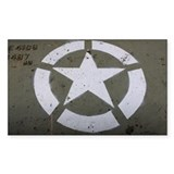 Star on tank Decal