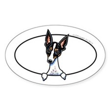 Rat Terrier Peeking Bumper Decal