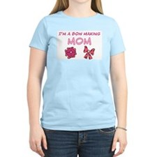 Bow Making Mom Women's Pink T-Shirt