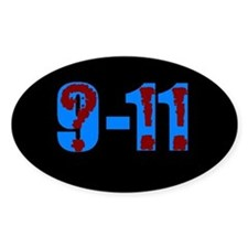 Question 9-11! (bk) Oval Decal