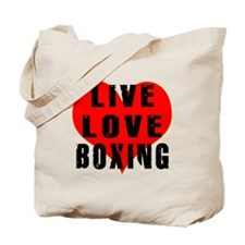 Live Love Boxing Tote Bag