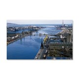 Docks, Dublin, County Dublin, I Car Magnet 20 x 12