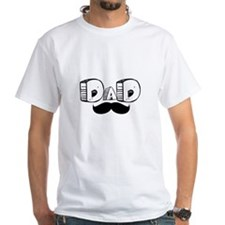 Dad Mustache Face T-Shirt