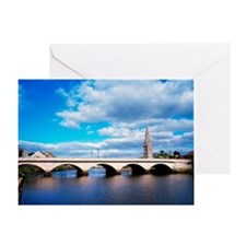 River Moy, Ballina, County Mayo, Ire Greeting Card