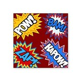 Hero Comic Pow Bam Zap Bursts Sticker