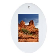 Vortex Side of Bell Rock Oval Ornament