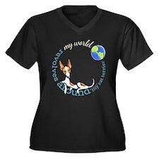 Rat Terrier My World Plus Size T-Shirt