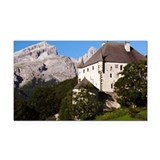Castle and Dolomites peaks, A Rectangle Car Magnet