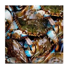 Blue Crabs Tile Coaster