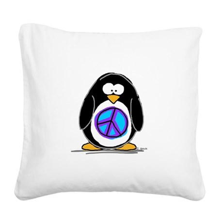 Peace.jpg Square Canvas Pillow