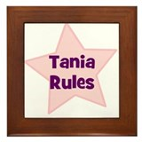 Tania Rules Framed Tile