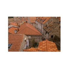 Rooftops, Dubrovnik, Croatia Rectangle Magnet