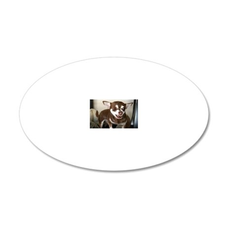 Coco the brown and tan Chihu 20x12 Oval Wall Decal