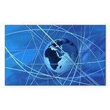 Globe and encircling cables Decal
