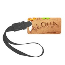 Aloha beach writing Luggage Tag