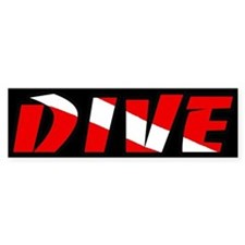Just Dive Black Bumper Bumper Sticker