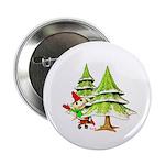 Waving Merry Christmas Button