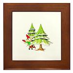 Waving Merry Christmas Framed Tile