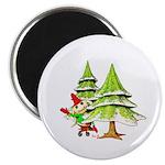 Waving Merry Christmas Magnet