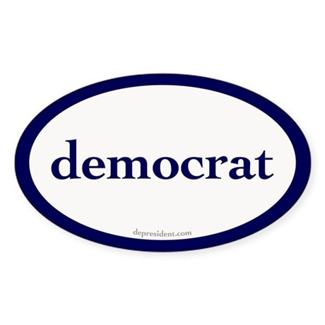 Democrat Oval Sticker