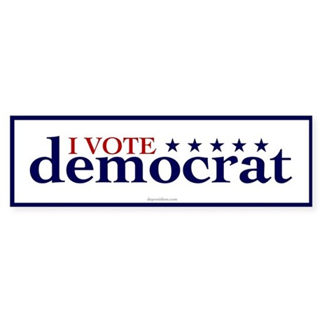 I Vote Democrat Bumper Sticker