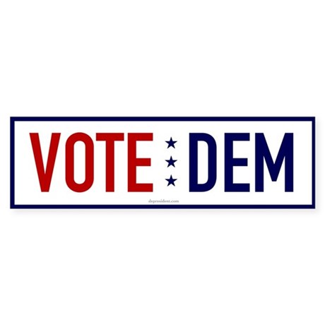 Vote Dem Bumper Sticker