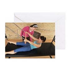 Woman Exercising With Pi Greeting Cards (Pk of 20)