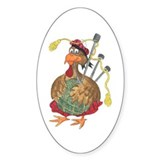 Bagpipe Turkey Oval Bumper Stickers