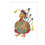 Bagpipe Turkey Postcards (Package of 8)