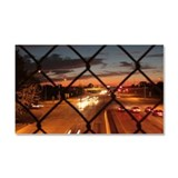 A highway at night's sunset, fe Car Magnet 20 x 12