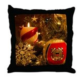 Coast Guard Christmas Throw Pillow