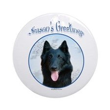 Belgian Sheep Season Ornament (Round)