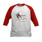 Lady wingwalker on bi-plane Kids Baseball Jersey