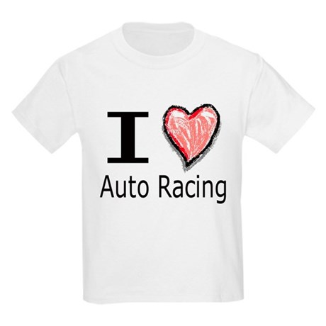 I Heart Auto Racing Kids T-Shirt
