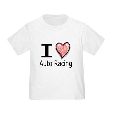 I Heart Auto Racing Toddler T-Shirt