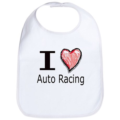 I Heart Auto Racing Bib