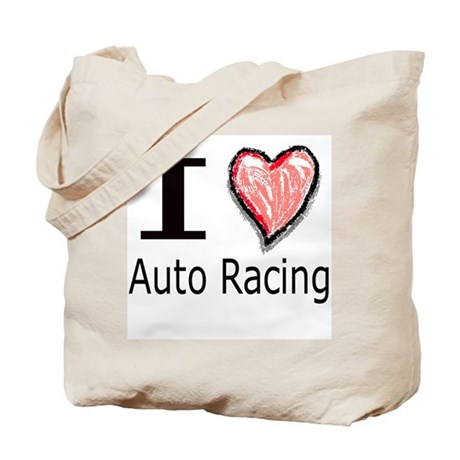 I Heart Auto Racing Tote Bag