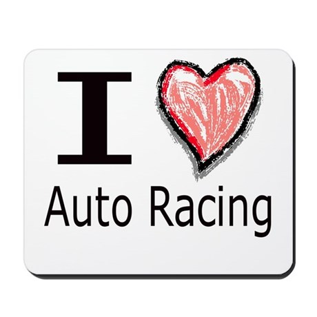 I Heart Auto Racing Mousepad