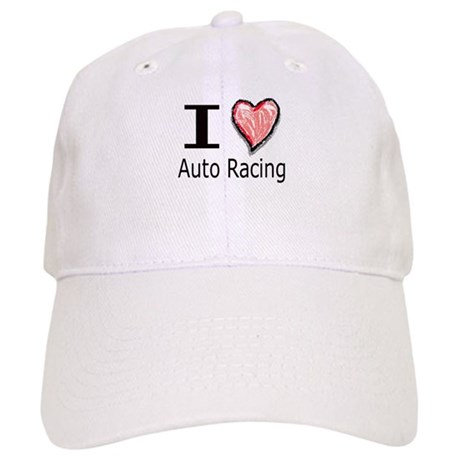 I Heart Auto Racing Cap
