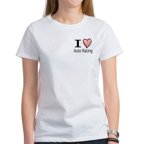 I Heart Auto Racing Women's T-Shirt