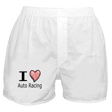 I Heart Auto Racing Boxer Shorts