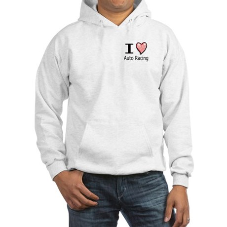 I Heart Auto Racing Hooded Sweatshirt