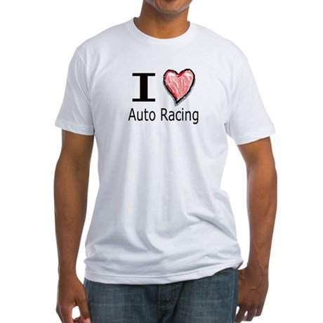 I Heart Auto Racing Fitted T-Shirt
